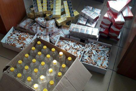 Tysiące papierosów i 25 litrów spirytusu bez akcyzy. Dwie osoby zatrzymane