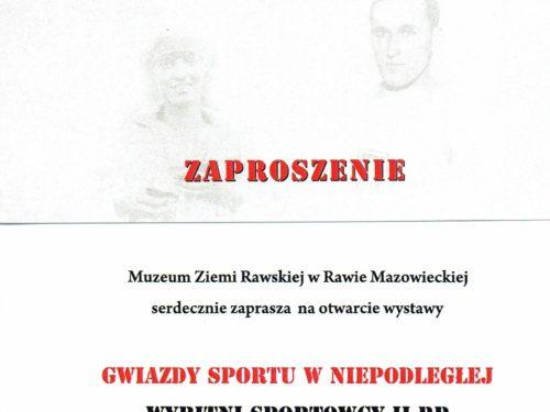 """""""Gwiazdy sportu Niepodległej"""". Nowa wystawa w Muzeum Ziemi Rawskiej"""