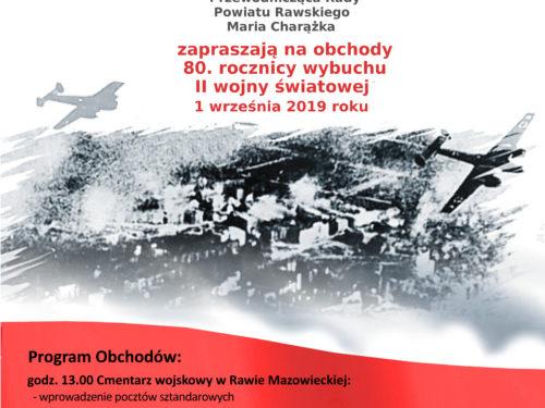 80. rocznica wybuchu II wojny światowej w Rawie (program)