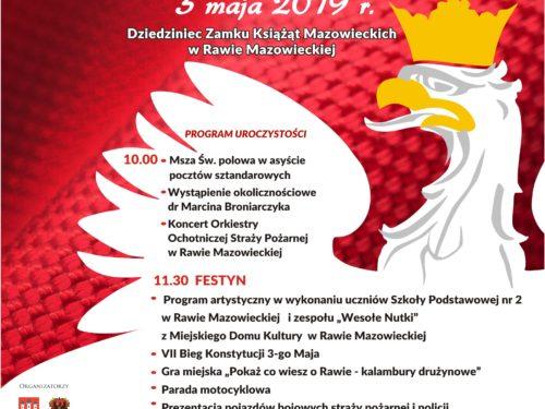 Radosne Święto. Obchody 228 Rocznicy Uchwalenia Konstytucji 3 Maja w Rawie