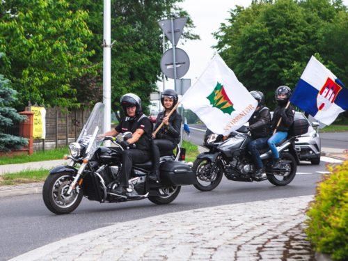 Polsko-węgierska parada motocyklowa na rozpoczęcie Dni Rawy