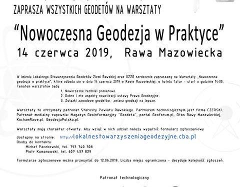 """Warsztaty """"Nowoczesna geodezja w praktyce"""""""