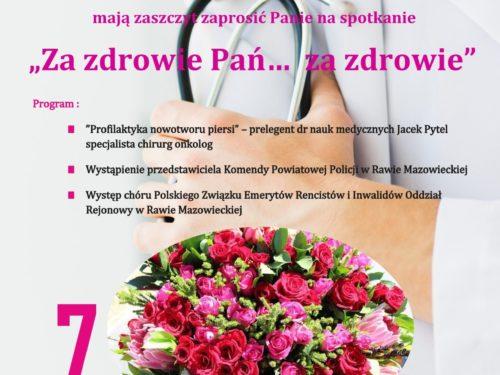 """7 marca: """"Za zdrowie Pań…  za zdrowie"""""""