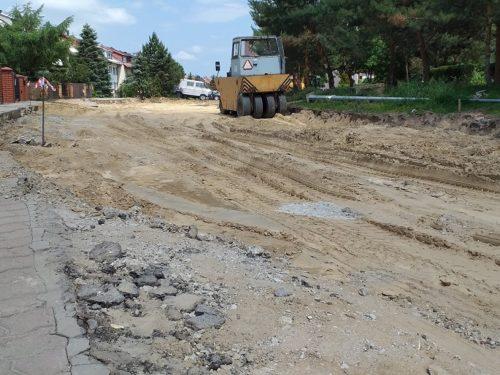 Trwa przebudowa ul. Sobieskiego w Rawie Mazowieckiej