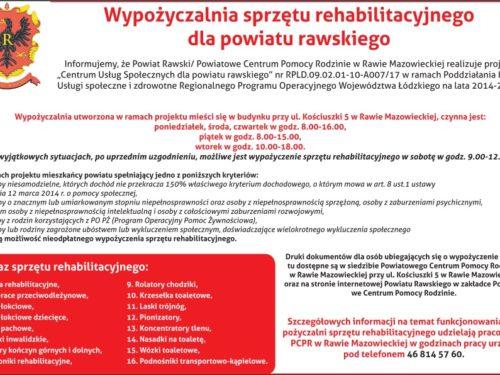 Wypożyczalnia sprzętu rehabilitacyjnego dla powiatu rawskiego
