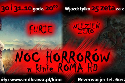 """""""Noc Horrorów"""" w rawskim kinie ROMA już za tydzień"""