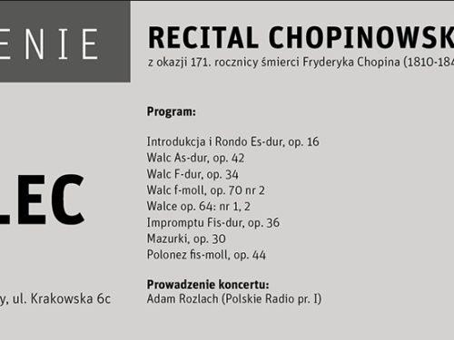 Recital chopinowski z okazji 171. rocznicy śmierci Fryderyka Chopina