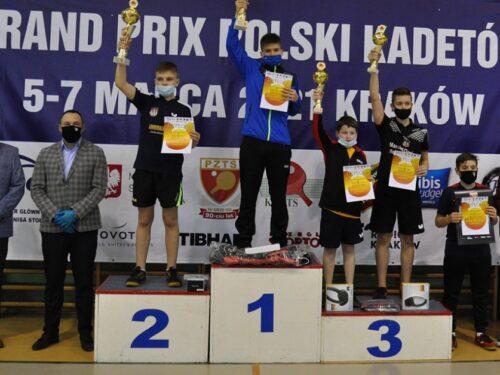 Tenis stołowy: Marcel Błaszczyk na drugim miejscu Grand Prix Polski Kadetów w Krakowie