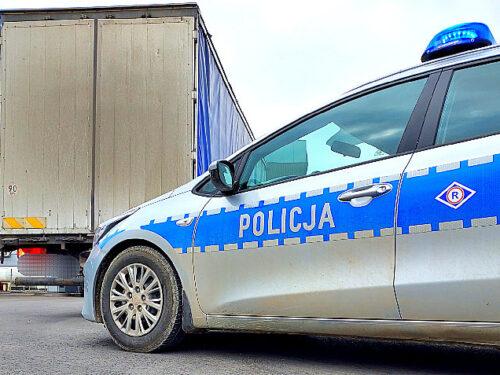 Na S-8 policjanci zatrzymali pijanego kierowcę ciężarówki. 44-latek miał 3 promile