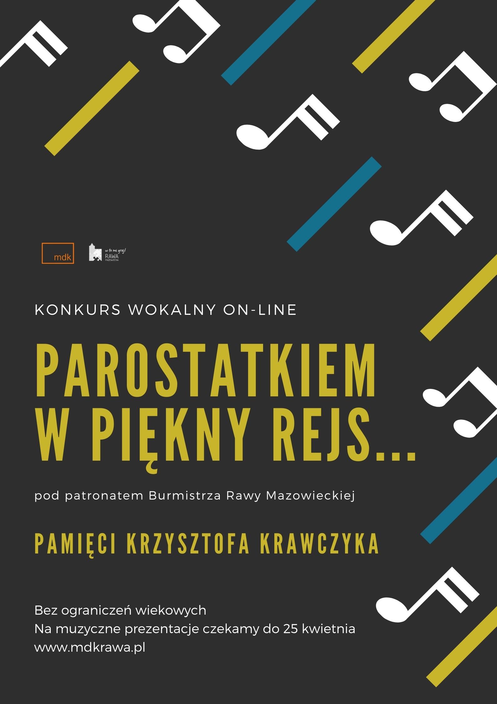 Konkurs wokalny on-line pamięci Krzysztofa Krawczyka kocham Rawę