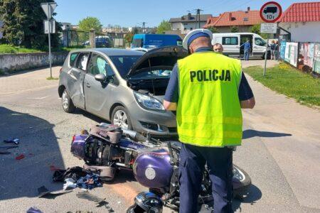 Dwa wypadki z udziałem motocyklistów w Rawie Mazowieckiej i w miejscowości Ścieki