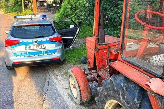 Gm. Sadkowice: Pijanemu traktorzyście grozi nawet do 5 lat więzienia