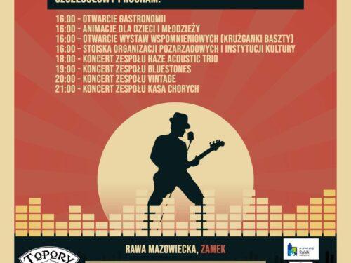 Blues na Zamku Książąt Mazowieckich w Rawie Mazowieckiej. Program imprezy